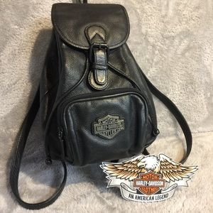 All Leather Harley Small Backpack